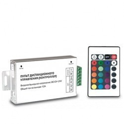 Контроллер для светодиодной ленты RGB 144W 12А пульт упр. цв. 24 кнопки Gauss PC201111025
