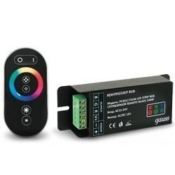 Контроллер для RGB 144W 12А с сенсорным пультом управления цветом (черный) Gauss PC201173144