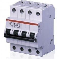 Автоматический выключатель ABB S200 3P+N 1,6А (K) 10кА, 2CDS273106R0257