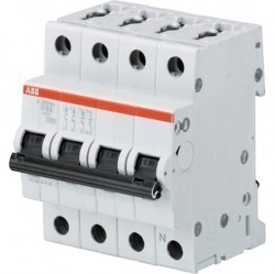 Автоматический выключатель ABB S200M 3P+N 13А (B) 10кА, 2CDS273103R0135
