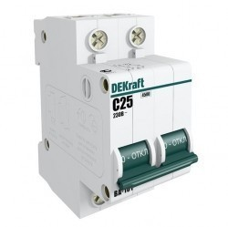Автоматический выключатель Schneider Electric DEKraft 2P 10А (B) 4,5кА, 11017DEK