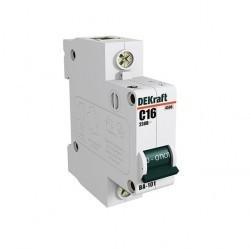 Автоматический выключатель Schneider Electric DEKraft 1P 16А (C) 4,5кА, 11054DEK