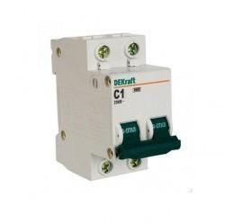 Автоматический выключатель Schneider Electric DEKraft 2P 1А (C) 4,5кА, 11061DEK