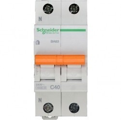 Автоматический выключатель Schneider Electric Домовой 1P+N 40А (C) 4,5кА, 11217