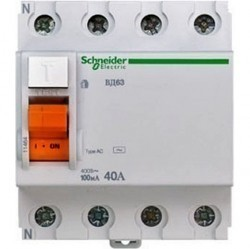 УЗО Schneider Electric ВД63 4P 40А 100мА (AC), 11464