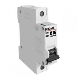 Автоматический выключатель Schneider Electric DEKraft 1P 10А (B) 4,5кА, 12008DEK