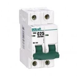 Автоматический выключатель Schneider Electric DEKraft 1P+N 25А (C) 9,5кА, 12184DEK