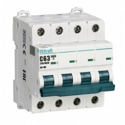 Автоматический выключатель Schneider Electric ВА-105 4P 25А (D) 10кА, 13239DEK