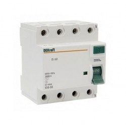 УЗО Schneider Electric DEKraft 4P 16А 100мА (AC), 14084DEK
