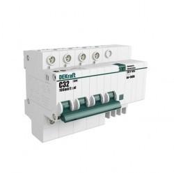 Дифавтомат Schneider Electric DEKraft 4P 40А (C) 4,5кА 100мА (AC), 15033DEK
