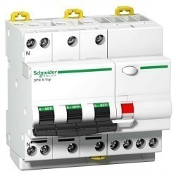 Дифавтомат Schneider Electric Acti9 4P 10А (B) 6кА 30мА (AC), A9D56710