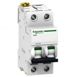 Автоматический выключатель Schneider Electric Acti9 2P 0,5А (C) 50кА, A9F74270