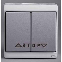 Выключатель для жалюзи 2-клавишный Schneider Electric MUREVA, серый, ENN35742