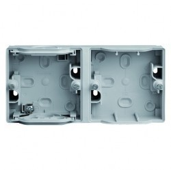 Mureva Коробка 2-ная адаптерная подъемная горизонтальная IP55, серая