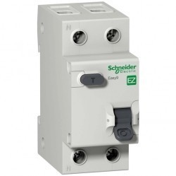 Дифавтомат Schneider Electric Easy9 2P 16А (C) 4,5кА 30мА (AC), EZ9D34616