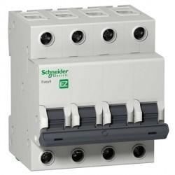 Автоматический выключатель Schneider Electric Easy9 4P 40А (B) 4,5кА, EZ9F14440