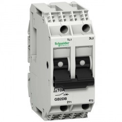 Автоматический выключатель Schneider Electric TeSys GB2 2P 2А () 1,5кА, GB2DB07