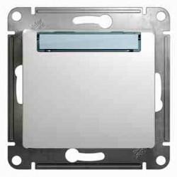 Выключатель 1-клавишный кнопочный Schneider Electric GLOSSA, скрытый монтаж, белый, GSL000119