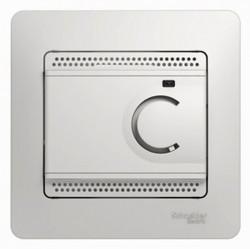 Термостат для теплого пола Schneider Electric GLOSSA, с датчиком, белый, GSL000138