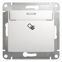 Карточный выключатель Schneider Electric GLOSSA, белый, GSL000169