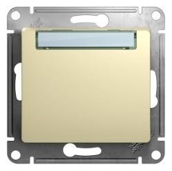 Выключатель 1-клавишный кнопочный Schneider Electric GLOSSA, скрытый монтаж, бежевый, GSL000219