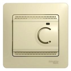 Термостат для теплого пола Schneider Electric GLOSSA, с датчиком, бежевый, GSL000238