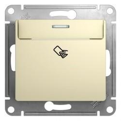 Карточный выключатель Schneider Electric GLOSSA, бежевый, GSL000269
