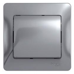 Выключатель 1-клавишный Schneider Electric GLOSSA, скрытый монтаж, алюминий, GSL000312