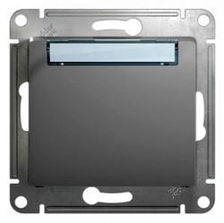Выключатель 1-клавишный кнопочный Schneider Electric GLOSSA, скрытый монтаж, алюминий, GSL000319