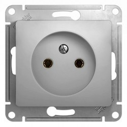 Розетка Schneider Electric GLOSSA, открытый монтаж, алюминий, GSL000341