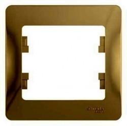 Рамка 1 пост Schneider Electric GLOSSA, титан, GSL000401