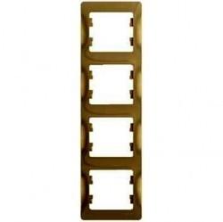 Рамка 4 поста Schneider Electric GLOSSA, вертикальная, титан, GSL000408