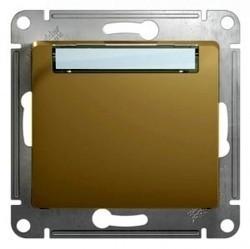 Выключатель 1-клавишный кнопочный Schneider Electric GLOSSA, скрытый монтаж, титан, GSL000419
