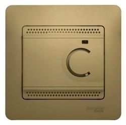 Термостат для теплого пола Schneider Electric GLOSSA, с датчиком, титан, GSL000438