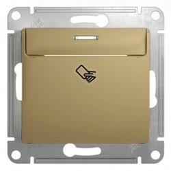 Карточный выключатель Schneider Electric GLOSSA, титан, GSL000469