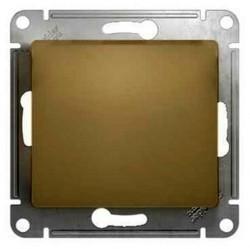 Переключатель 1-клавишный перекрестный Schneider Electric GLOSSA, скрытый монтаж, титан, GSL000471