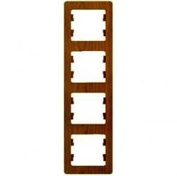 Рамка 4 поста Schneider Electric GLOSSA, вертикальная, дуб, GSL000508