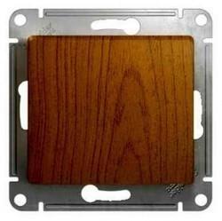 Выключатель 1-клавишный кнопочный Schneider Electric GLOSSA, скрытый монтаж, дуб, GSL000515