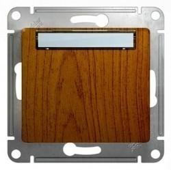 Выключатель 1-клавишный кнопочный Schneider Electric GLOSSA, скрытый монтаж, дуб, GSL000519