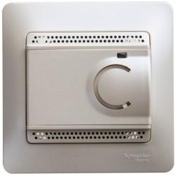 Термостат для теплого пола Schneider Electric GLOSSA, с датчиком, перламутр, GSL000638