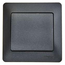 Выключатель 1-клавишный Schneider Electric GLOSSA, скрытый монтаж, антрацит, GSL000712