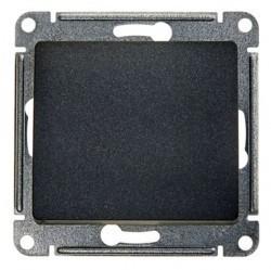 Выключатель 1-клавишный Schneider Electric GLOSSA, с подсветкой, скрытый монтаж, антрацит, GSL000713