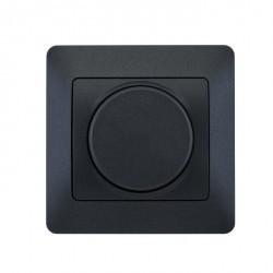 Светорегулятор поворотный Schneider Electric GLOSSA, 300 Вт, антрацит, GSL000734