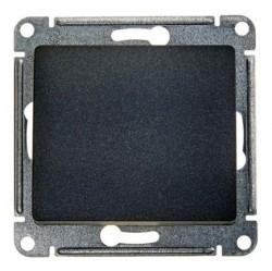 Переключатель 1-клавишный Schneider Electric GLOSSA, с подсветкой, скрытый монтаж, антрацит, GSL000763