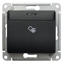 Карточный выключатель Schneider Electric GLOSSA, антрацит, GSL000769