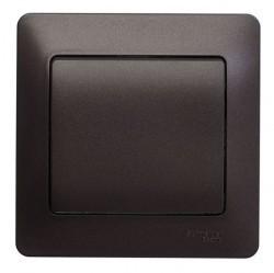 Выключатель 1-клавишный Schneider Electric GLOSSA, скрытый монтаж, шоколад, GSL000812