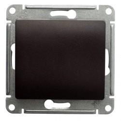 Выключатель 1-клавишный кнопочный Schneider Electric GLOSSA, скрытый монтаж, шоколад, GSL000815