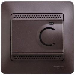 Термостат для теплого пола Schneider Electric GLOSSA, с датчиком, шоколад, GSL000838