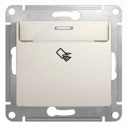 Карточный выключатель Schneider Electric GLOSSA, молочный, GSL000969