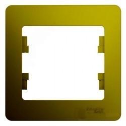 Рамка 1 пост Schneider Electric GLOSSA, фисташковый, GSL001001